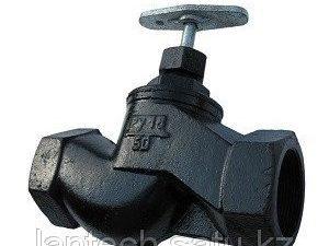 Вентиль (клапан) чугунный запорный проходной муфтовый 15кч18п Ду50 Ру16