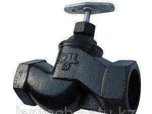 Вентиль (клапан) чугунный запорный проходной муфтовый 15кч18п Ду40 Ру16
