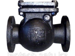 Клапан обратный поворотный фланцевый 16ч6р Ду100 Ру16
