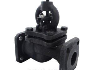 Вентиль (клапан) чугунный запорный проходной фланцевый 15кч14п Ду100 Ру16