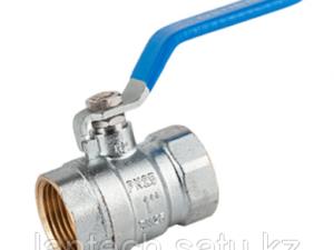 Кран шаровой латунный муфтовый для воды тип «М-М» (В-В) аналог 11Б27п1 Ду40 Ру16 серия 1005 STA