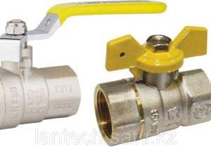 Кран шаровой латунный для газа тип «М-М» аналог 11Б27П Ду25 Ру16 серия 1050 STA ручка-рычаг или флажок